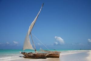 Dhow on ZNZ beach