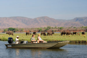 Boating from Chongwe River House